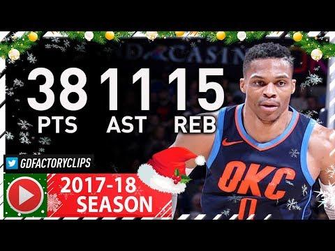 Russell Westbrook Triple-Double Full Highlights vs Mavericks (2017.12.31) - 38 Pts, 15 Reb, 11 Ast