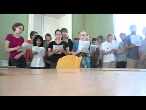 "American Students sing ""Oy Moroz, Moroz,"" a Russian Folk Song"