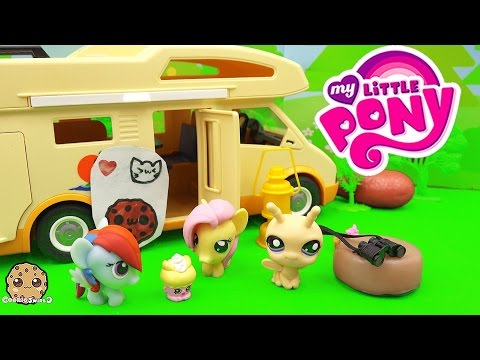 Fash'ems Rainbow Dash Fluttershy, Shopkins - ROAD TRIP RV Camper My Little Pony Video Series Part 11
