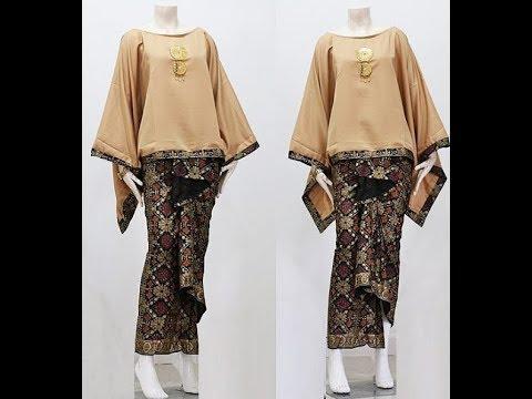 Model Baju Gamis Batik Kombinasi Polos Teranyar 2018 Youtube