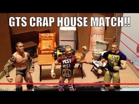 GTS WRESTLING: Hardcore House match! WWE mattel action figure matches animation Cena Orton Bryan