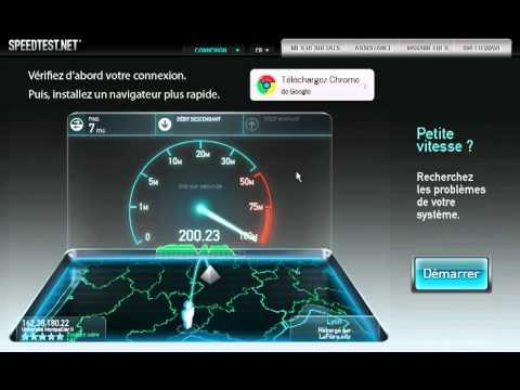 Speedtest Université Montpellier 2 +200 Mbps - Test de débit