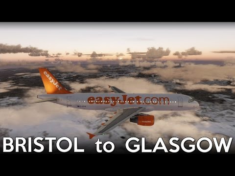 [P3D] Bristol to Glasgow (Aerosoft Airbus) [EGGD-EGPF]