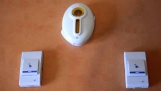 видео Дверной беспроводной звонок для глухих