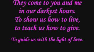 Demi Lovato Angels Among Us Lyrics on screen