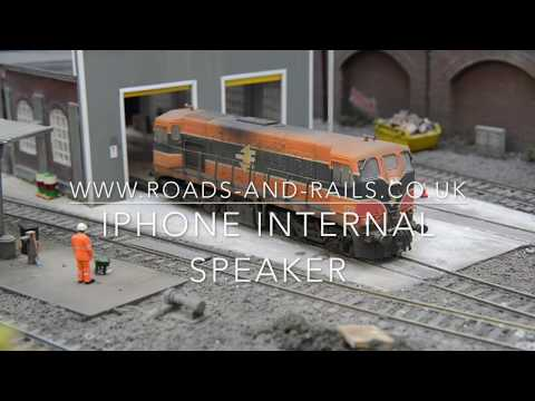 Irish class 141 diesel, DCC sound with iPhone speaker