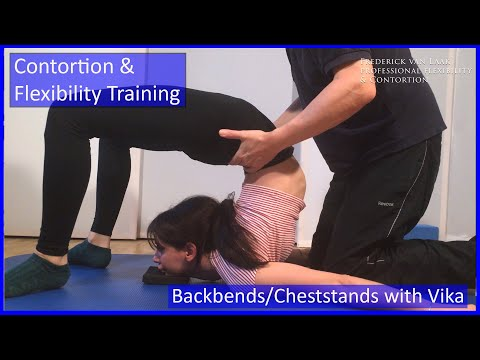 Contortion Training by Flexyart 130: Backbend  Cheststand  - Also for Yoga, Poledance, Ballet, Dance