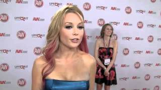 Kayden Kross Talks Condom Regulation with SF Bay Guardian at AVN 2012