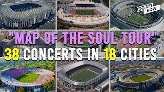 What Are The Venues For Bts' 2020 Map Of The Soul Tour?
