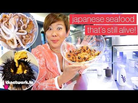 Japanese Seafood That's Still Alive! - Foodporn: EP18