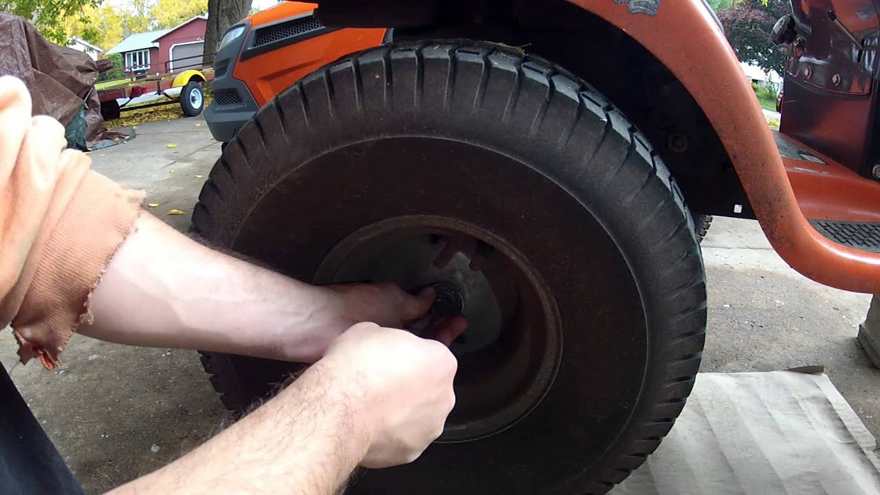 Husqvarna Lawn Tractor Rear Tire Removal Youtube