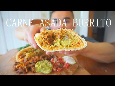 MUKBANG: Carne Asada Burrito Recipe