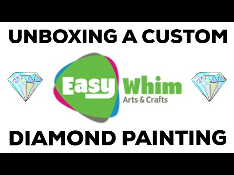 Unboxing A Custom Diamond Painting From EasyWhim