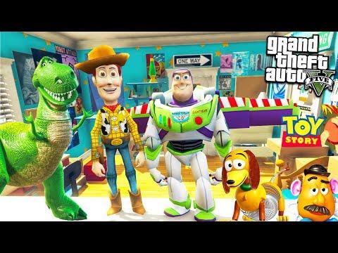 ИСТОРИЯ ИГРУШЕК И ВОЗВРАЩЕНИЕ ВУДИ В ГТА 5 МОДЫ! ОБЗОР МОДА GTA 5 видео игра как мультик для детей