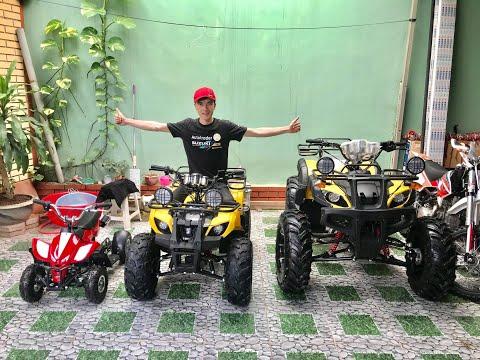Tây Trung- Cận cảnh dàn xe ATV từ nhỏ tới lớn 50cc, 125cc, 150cc, 250cc - Liên hệ 03989 06789