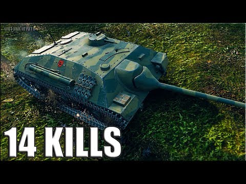 14 фрагов на пт сау Е25 World of Tanks thumbnail