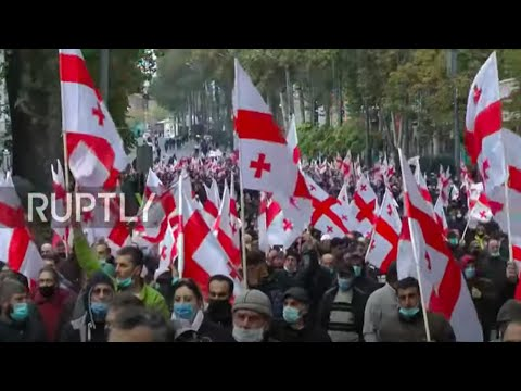 Georgia: Protesters demand fresh general elections at Tbilisi rally