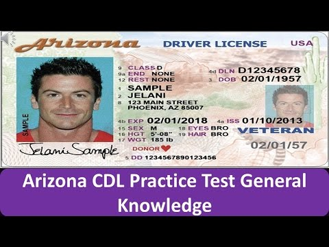 Arizona CDL Practice Test General Knowledge