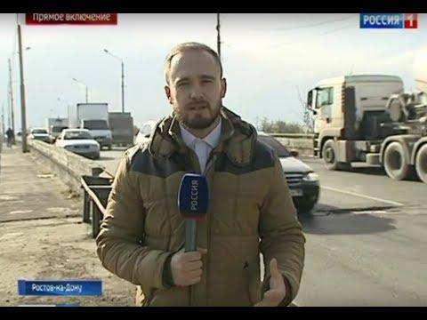 В Ростове ремонт моста спровоцировал на Малиновского крупный затор