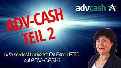 ADV Cash: Wie Ein- und Auszahlen? Tausch in Krypto?