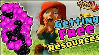 Clash of Clans : GET ANY RESOURCES FOR FREE W/O ATTACK !! W/O ANY COST !! NO HACKS !! NO ROOT !! 😀