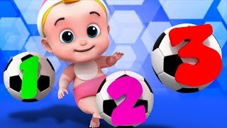 Soccer Numbers Song | Learn Numbers | 123 Songs For Kids | Nurser Rhymes By Junior Squad
