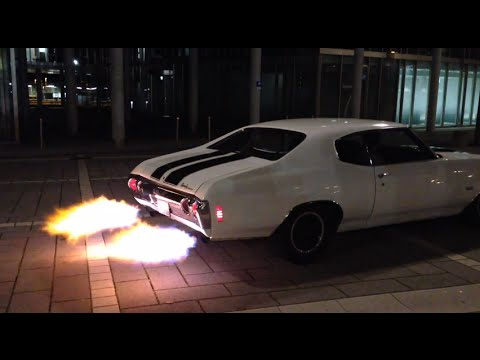 Chevrolet Chevelle Ss Shooting Flames Youtube