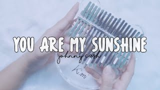 Johnny Cash - YOU ARE MY SUNSHINE | Kalimba Cover with TABS
