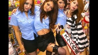 Cute Japanese Girls in Costumes Wish You a Happy Halloween