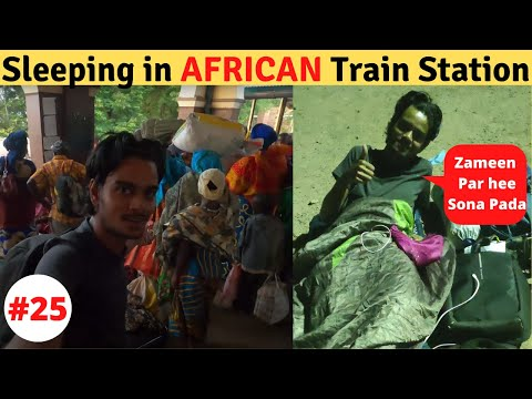 Surviving In AFRICAN Railway Station !