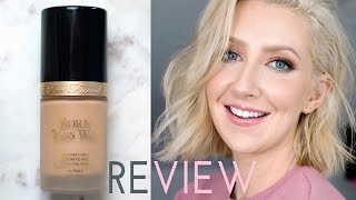 Holy Grail Foundation For Oily Skin? Too Faced Born This Way Review | Sharon Farrell