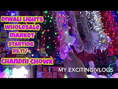DIWALI LIGHTS WHOLESALE MARKET, (STRIP LIGHTS, PIPE LIGHT, LED LIGHTS AND ETC..)BHAGIRATH PALACE