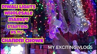 DIWALI LIGHTS WHOLESALE MARKET, (STRIP LIGHTS, PIPE LIGHT, LED LIGHTS AND ETC..)BHAGIRATH PALACE
