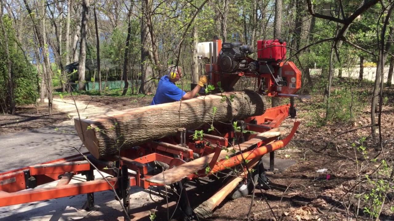 Custom log sawmill serving Peoria area, central Illinois