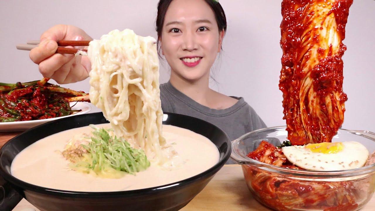 콩국수🍜실비김치참치비빔밥,오이소박이 특매운맛, 실비파김치Cold Bean soup noodles(Kongguksu)&Kimchi Bibimbap MUKBANG