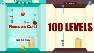 Rescue Cut - Rope Puzzle Level 1-100 Gameplay