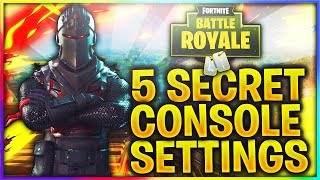 5 SECRET SETTINGS FOR FORTNITE BATTLE ROYALE CONSOLE PLAYERS (PS4 & XBOX ONE)