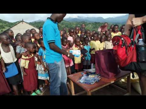 Gifts for the rural children in Bwethe, Uganda