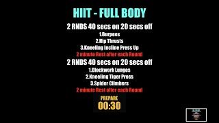 Week 12    HIIT Full Body