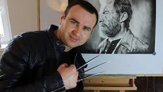 Drawing Old ManLogan:Wolverine -Hugh Jackman 2017 (Hungary)