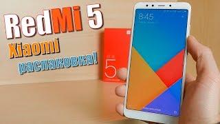 Распаковка Xiaomi Redmi 5 - первый взгляд на лучший бюджетный смартфон 2018