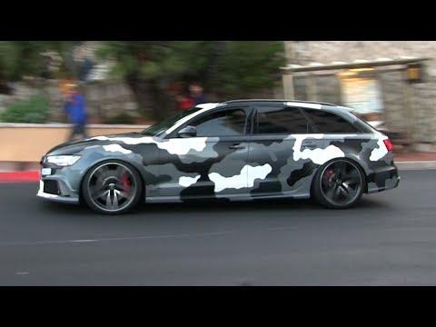 GMK'S CAMO Audi RS6 Performance W/ STRAIGHT PIPES Milltek Exhaust In Monaco | CRAZY SOUND!