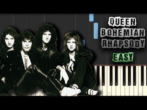 Queen - Freddie Mercury - Bohemian Rhapsody - EASY - [Piano Tutorial] (Download MIDI + PDF Scores)