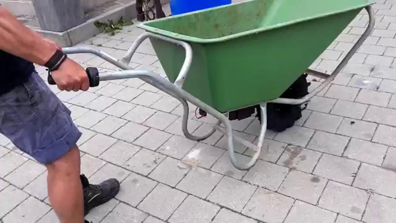 elektro schubkarre dumper - youtube