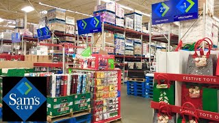 SAM'S CLUB SHOP WITH ME NEW ITEMS GIFTS KITCHENWARE FITNESS CHRISTMAS SHOPPING STORE WALK THROUGH