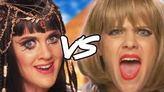 TAYLOR SWIFT vs KATY PERRY Music Video Parody (Diss Track) by : ClevverTV