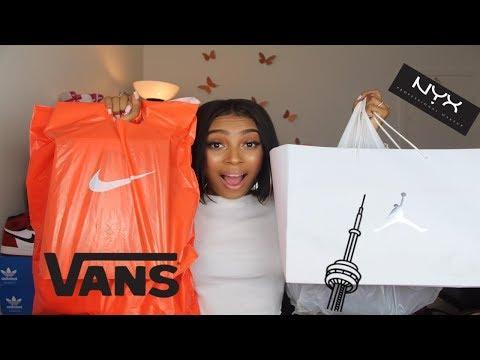 TORONTO HAUL! (Jordan Store, Nike Outlet, Nyx Store &more)