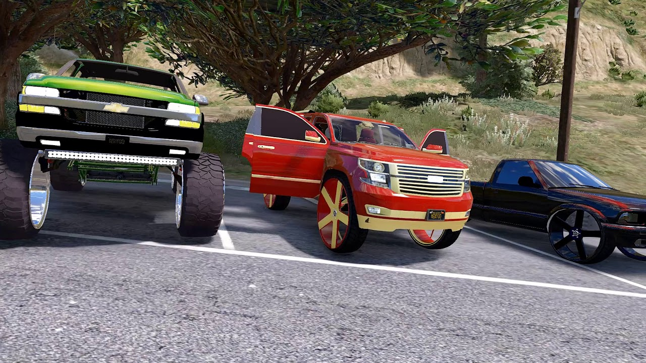 GTA 5 Mods - Custom Chevy Truck Projects Tahoe Donk ...