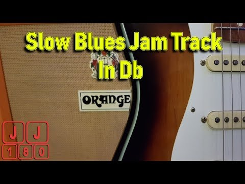 Slow Blues Jam Track In Db/C#