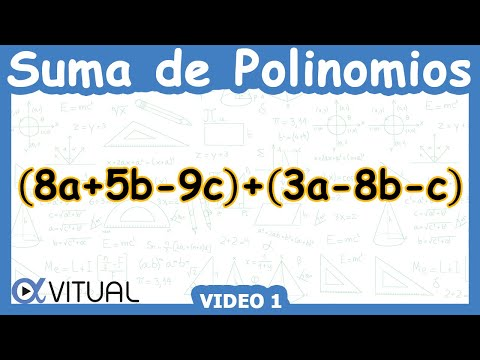 Suma de polinomios ejemplo 1 de 6 | Álgebra - Vitual